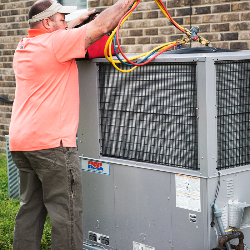 SAE Helping fix an HVAC Unit in Murfreesboro, TN